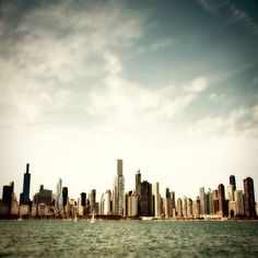 Photograph of Chicago skyline as seen from Lake Michigan by Tracey Capone
