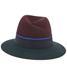 Maison Michel-Virginie Double Grosgrain-Trimmed Hat