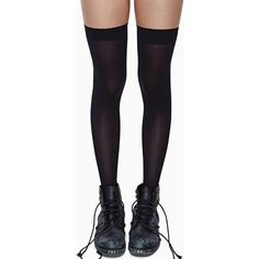 School Girl Thigh High Socks (61 MYR) ❤ liked on Polyvore featuring intimates, hosiery, socks, accessories, shoes, tights, doll parts, black, thigh-high socks and black hosiery
