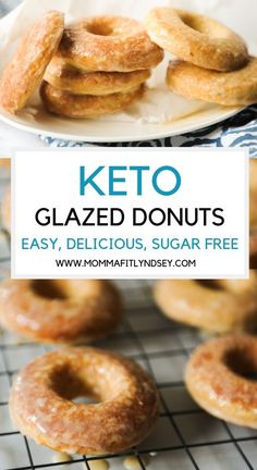 Keto Glazed Donuts Keto donut recipe that tastes just like krispy kreme. Easy and baked with coconut flour. Low carb with delicious glaze and is one of the best tasting keto snacks you can have! Krispy Kreme, Keto Foods, Keto Snacks, Healthy Desserts, Diet Desserts, Diabetic Desserts, Summer Desserts, Low Carb Donut, Low Carb Keto