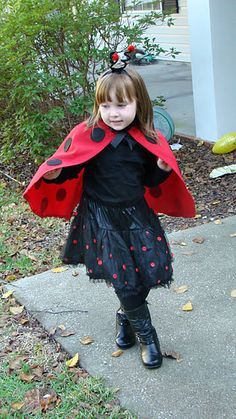 Ladybug capes. Too late for J's party but these are cute