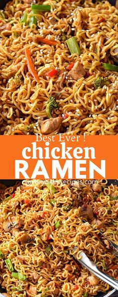 Try this homemade,best,easy Chicken Ramen noodle recipe which quick but healthy and delicious too. Fix lunches or dinners under 30 mins with this easy skillet chicken ramen stir fry which is going to be kids favorite too and that to under budget. Chicken Ramen Recipe, Chicken Stir Fry With Noodles, Easy Chicken Dinner Recipes, Ramen Recipes, Asian Recipes, Skillet Chicken, Easy Meals, Cooking Recipes, Quick Recipes With Ramen Noodles