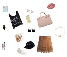 """Cute❤️"" by annaleamassey on Polyvore featuring Sans Souci, Vans, Burberry, New Look, Lime Crime, Maybelline, Calvin Klein and NIKE"