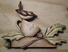 Canvas Ideas, Scroll Saw, Hanging Wall Art, Wood Art, Wood Crafts, Woodworking, Bird, Mugs, Stone