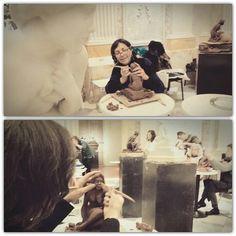 Sculpture Workshop at MEAM museu europeu art modern, Barcelona. Now a Llimona big exposition! #sculpture #llimona #meam #museum #barcelona #cultura #exposiciollimona #weekend #goodmorning #workshop #creative #creativemorning