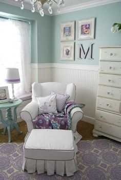 Lavender & sea foam