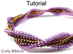 Colorful Twisted Herringbone Square Stitch Beaded Bracelet Beading Tutorial Pattern