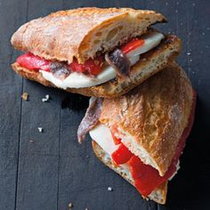 As a morning meal, brunch or late-night snack, try this bocadillo, or Spanish sandwich, recipe. Our version is made with cheese, anchovies, and peppers.