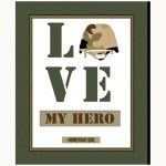 """Love My Hero"" 77171-F Now sold online and at Hancock Fabric stores"