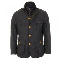 Barbour Kempt Wax Jacket - Navy