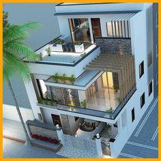 House Floor Design, 3 Storey House Design, Best Modern House Design, Modern Exterior House Designs, Latest House Designs, Bungalow House Design, Modern Architecture House, Townhouse Designs, Home Building Design
