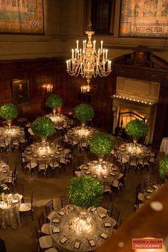 Harvard Club of Boston - Simply elegant   High end   Downtown Boston Wedding Venue, Winter Wedding Boston, Marc Hall Design Boston Wedding - Person + Killiam Photography