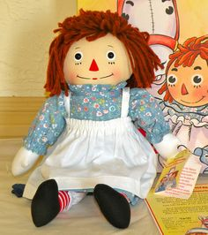"""14"""" Applause Limited Edition Raggedy Ann Signed by Kim Gruelle #LimitedEditionbyApplauseInc"""
