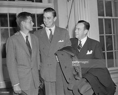 Left to right: Republicans John F. Kennedy, FDR Jr., and Robert F. Wagner Jr. The trio represents five veteran organizations which have endorsed the Taft-Ellender-Wagner Veterans Housing Bill.