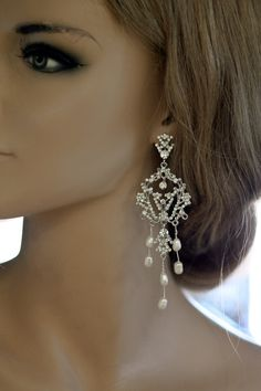 Rain Earrings Wedding Earrings Bridal Earrings by simplychic93