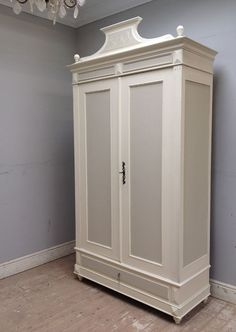 Antique French Armoire. Vintage Furniture, Painted Furniture, Bedroom Furniture, French Armoire, Antique Cupboard, Rustic Room, Cupboards, Wardrobes, French Antiques