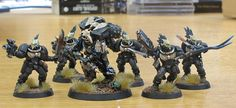 Chaplain Cordae and Raven Guard Scouts converted and painted by EddieEccles