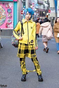 Yellow Plaid Harajuku Fashion