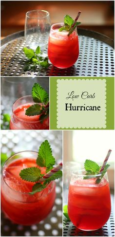 Low Carb Hurricane Cocktail with 2 kinds of rum? Yes Please! Perfect for summer! From http://lowcarb-ology.com