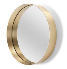 Mirroir Alana: Murs clairs ou foncés, tendance classique ou moderne... Quelles que soient les tonalités de votre intérieur, ce miroir apportera la touche dorée distinguée qui manque à votre déco.