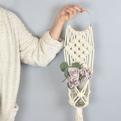 Macrame workshop wall hanging and plant hanging examples with Amy Zwikel Studio
