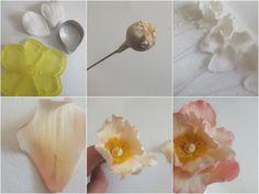 Gumpaste Wired Rose Tutorial -  Find the tutorial at this link - https://www.facebook.com/photo.php?fbid=642986445730979=a.282049791824648.83659.173529346010027=1  www.sweetassugarcakes.co.uk www.facebook.com/sweetassugarcakes