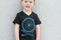 Kids Bike Wheel and Crossbones