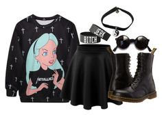 """""""Black Tag :o)"""" by jeff-little-killer ❤ liked on Polyvore featuring LE3NO and Dr. Martens"""