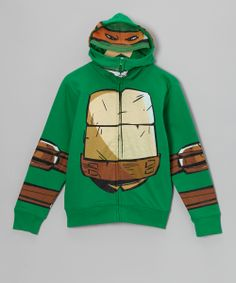 Green TMNT Zip-Up Hoodie - Kids (Kids?! seriously... that's ageist. I REALLY want my own.)