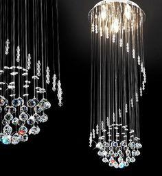 Glas Kristall Pendelleuchte Hngeleuchte Hngelampe Deckenlampe Kronleuchter
