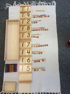 This is a great extension of the teen number boards using dimes and pennies.  This allows for numeral recognition, 1-1 correspondence, and is an introduction to coins/money.