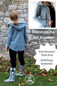 Wendejacke mit Kapuze - gratis Anleitung (passend zum Tante Ema-Schnittmuster)