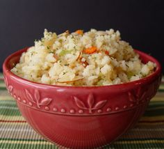 Rice Pilaf with Almonds from Jamie Cooks It Up!