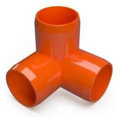 Build square corners of structural PVC applications using this durable Formufit Furniture Grade PVC Three Way Elbow in Orange. Orange Furniture, Cool Furniture, Furniture Grade Pvc, Cold Frame, Copper Tubing, Pvc Material, Surface Finish, Packing