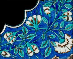 An Iznik pottery Spandrel Tile Fragment Turkey, second half of 16th Century