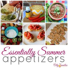 Summer Appetizer Recipes Using Young Living Essential Oils