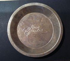 """Vintage Marie Calendar's Pie Tin Metal Embossed 9"""" Raised Letters"""