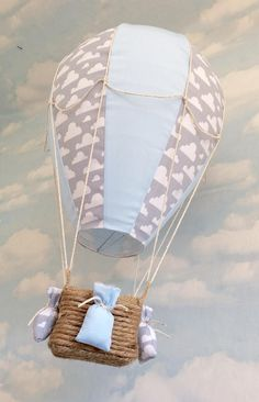 Inspire even the youngest of minds with this beautiful hand made Hot air balloon lightshade. What better way to start a bedtime story than with tales of adventure in far away lands, reached only by a magical hot air balloon! When story time is over and its time to sleep children will be reassured that they are tucked up safe with their favourite toy watching down on them from their very own magical balloon. A truly unique lightshade perfect for a nursery, childs bedroom or play room. A…