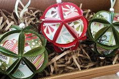 Christmas - hand made paper decorations