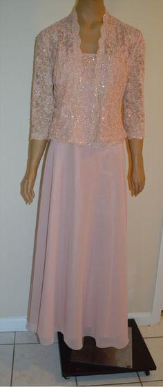 129.99$  Watch now - http://vidux.justgood.pw/vig/item.php?t=1n9lfuc32514 - Karen Miller Dress Mother of the Bride Sleeveless Evening Mauve Size 8 129.99$