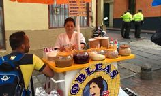Fun things to do in Bogota Colombia - Street vendors in Candelaria
