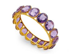 Ageless Heirlooms' Antique Jewelry Blog - My Top Ten Pins - February » Ageless Heirlooms' Antique Jewelry Blog - amethyst and gold bracelet.