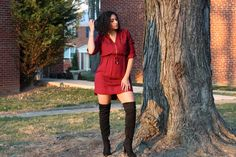Have you seen today's NEW post? Tis' the season for holiday parties! Find out what I will be wearing! #phoenixstyle  http://www.phoenixraine411.com/6xtlw6x3jv0q01947f9fwk8puel3lo/zip-front-shirt-dress-thigh-high-boots