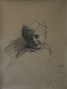 Teresa Oaxaca, American: Francis, 2014. Charcoal with white chalk on Hahnemuhle paper.