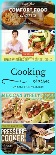 Cooking, Baking and Cake Decorating Classes under $20 this weekend!  Lifetime access and a money-back guarantee. Thai Cooking, Cooking For Two, Online Cooking Classes, Mexican Street Food, Crockpot Recipes, Healthy Recipes, Cake Decorating Classes, Easy Weeknight Dinners, No Bake Cake