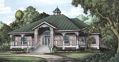 Take away the arches on the windows and paint the house white and we'll talk...Florida Cracker House Plan chp-24541 at COOLhouseplans.com