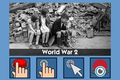 The Second World War - free teaching activity for switch, touchscreen, pointing device and eye gaze users. Use online or download for Windows PC.
