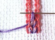 Triple chain stitch - hand embroidery tutorials