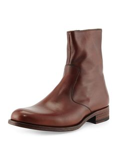 840b28c6dc Leather Short Zip Boot