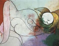 Naked woman, 1932 by Pablo Picasso, Neoclassicist & Surrealist Period. Surrealism. nude painting (nu)